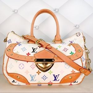 Authentic Louis Vuitton Rita MM White Monogrammed